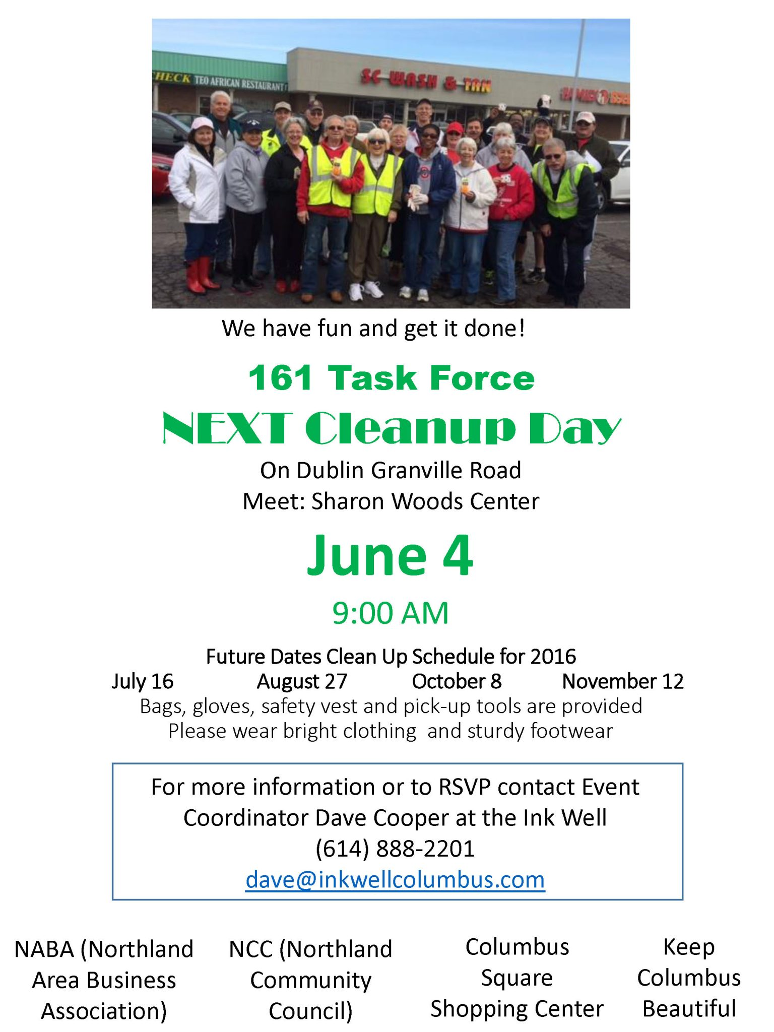 June 4 clean up flyer