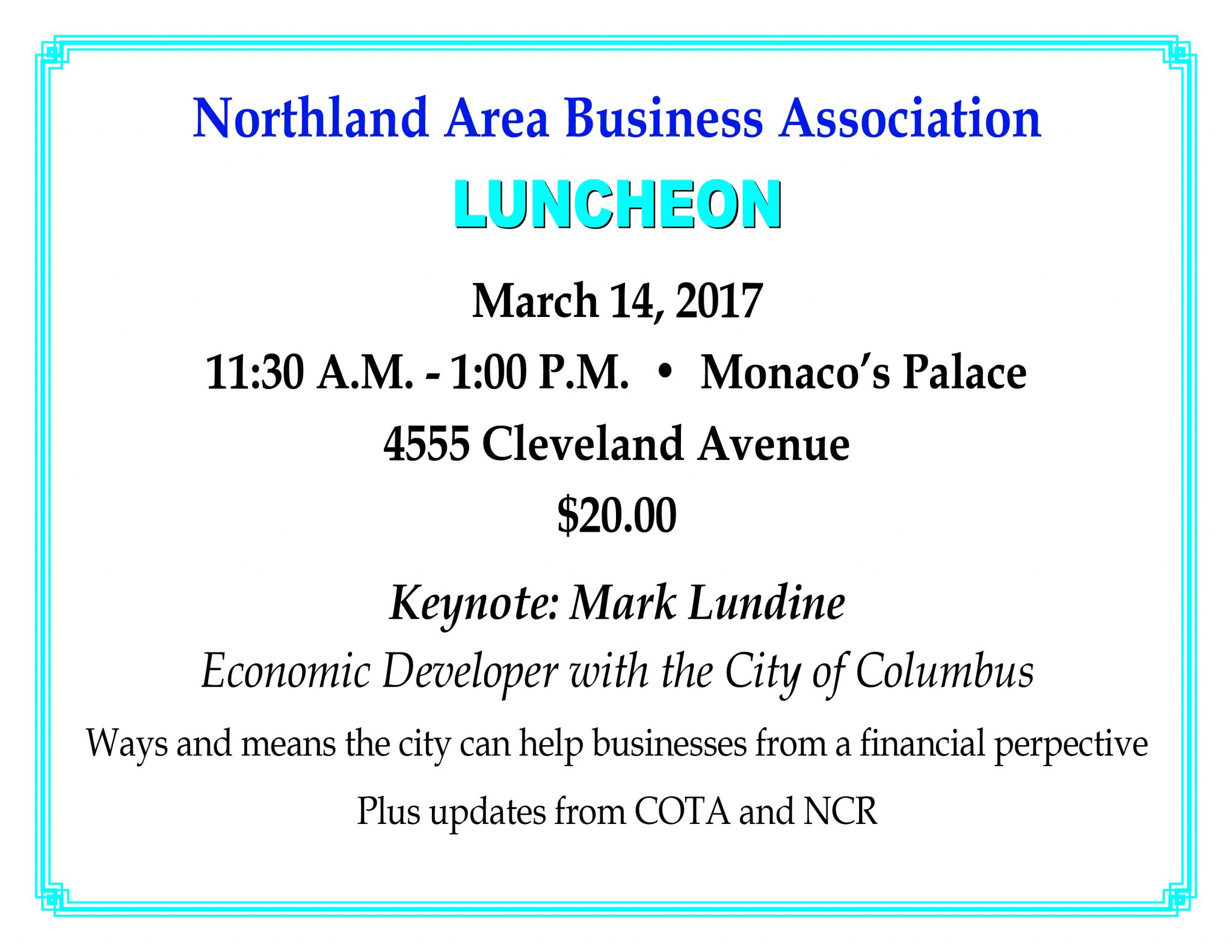 March Luncheon 2017