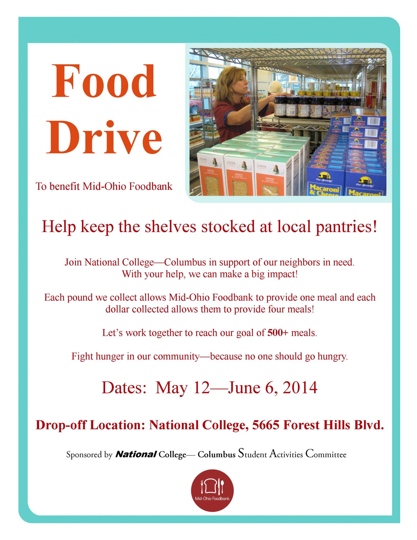 NABA Food Drive For Mid Ohio Food Bank