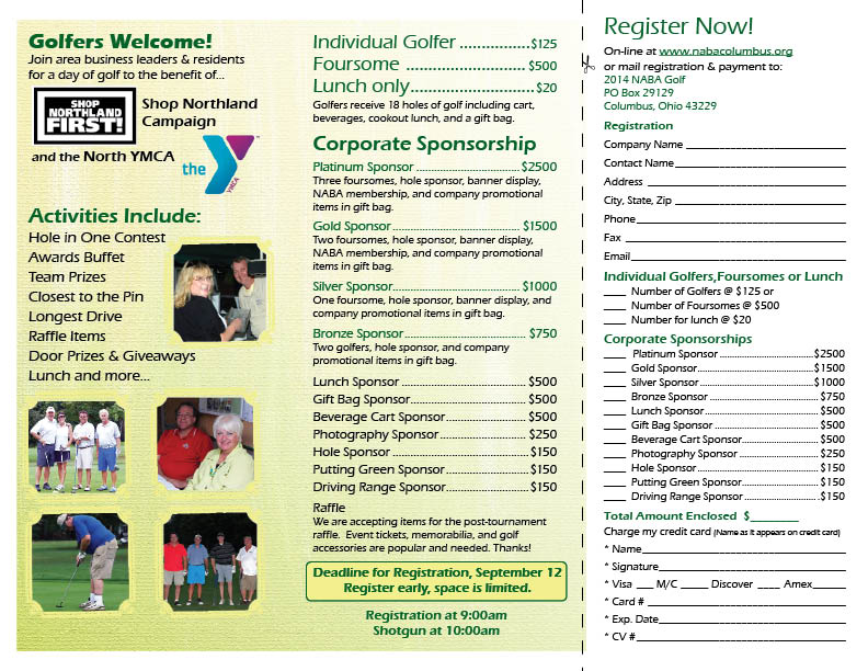 10th Annual Golf Tournament  Register Today!