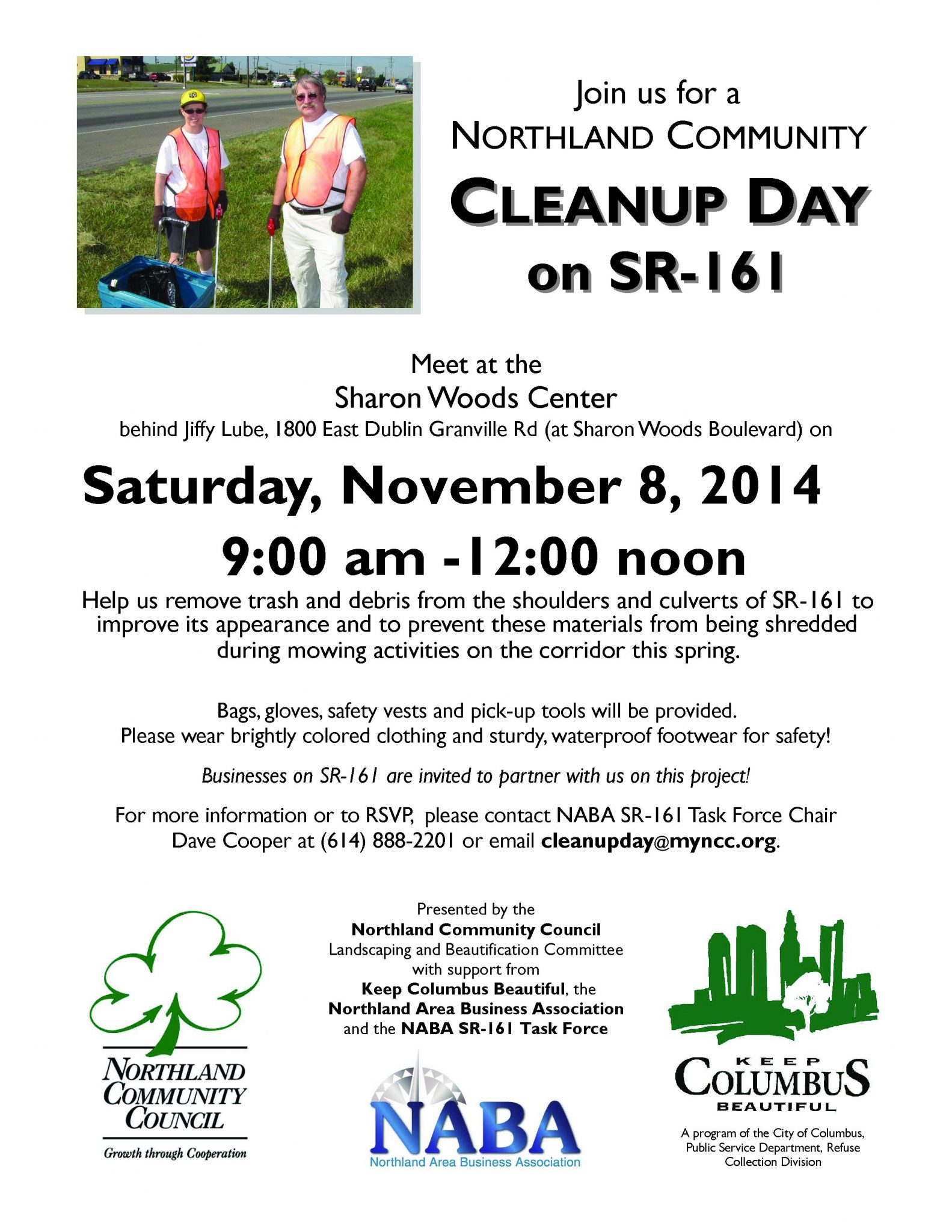 NCC Clean Up Day November 8